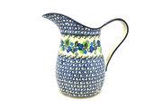 Ceramika Artystyczna Polish Pottery Pitcher - 2 pint - Blue Berries B35-1416a (Ceramika Artystyczna)