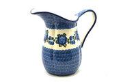 Ceramika Artystyczna Polish Pottery Pitcher - 2 pint - Blue Poppy B35-163a (Ceramika Artystyczna)