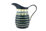Ceramika Artystyczna Polish Pottery Pitcher - 2 pint - Blue Spring Daisy B35-614a (Ceramika Artystyczna)