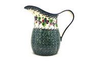 Ceramika Artystyczna Polish Pottery Pitcher - 2 pint - Burgundy Berry Green B35-1415a (Ceramika Artystyczna)