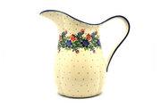 Ceramika Artystyczna Polish Pottery Pitcher - 2 pint - Garden Party B35-1535a (Ceramika Artystyczna)