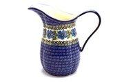 Ceramika Artystyczna Polish Pottery Pitcher - 2 pint - Morning Glory B35-1915a (Ceramika Artystyczna)