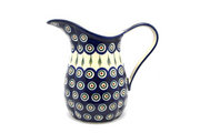 Ceramika Artystyczna Polish Pottery Pitcher - 2 pint - Peacock B35-054a (Ceramika Artystyczna)