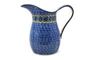 Ceramika Artystyczna Polish Pottery Pitcher - 2 pint - Peacock Feather B35-1513a (Ceramika Artystyczna)