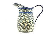 Ceramika Artystyczna Polish Pottery Pitcher - 2 pint - Terrace Vines B35-1822a (Ceramika Artystyczna)