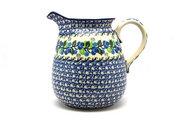 Ceramika Artystyczna Polish Pottery Pitcher - 2 quart - Blue Berries 082-1416a (Ceramika Artystyczna)