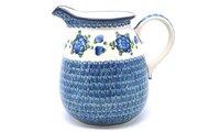 Ceramika Artystyczna Polish Pottery Pitcher - 2 quart - Blue Poppy 082-163a (Ceramika Artystyczna)