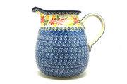 Ceramika Artystyczna Polish Pottery Pitcher - 2 quart - Maple Harvest 082-2533a (Ceramika Artystyczna)