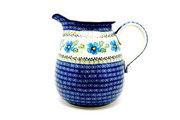 Ceramika Artystyczna Polish Pottery Pitcher - 2 quart - Morning Glory 082-1915a (Ceramika Artystyczna)