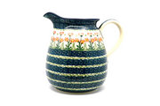 Ceramika Artystyczna Polish Pottery Pitcher - 2 quart - Peach Spring Daisy 082-560a (Ceramika Artystyczna)