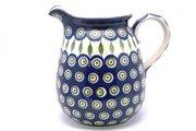 Ceramika Artystyczna Polish Pottery Pitcher - 2 quart - Peacock 082-054a (Ceramika Artystyczna)