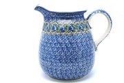 Ceramika Artystyczna Polish Pottery Pitcher - 2 quart - Peacock Feather 082-1513a (Ceramika Artystyczna)