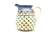 Ceramika Artystyczna Polish Pottery Pitcher - 2 quart - Red Robin 082-1257a (Ceramika Artystyczna)