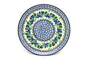 "Ceramika Artystyczna Polish Pottery Plate - 10"" Dinner - Blue Berries 257-1416a (Ceramika Artystyczna)"