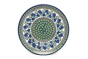 "Ceramika Artystyczna Polish Pottery Plate - 10"" Dinner - Blue Chicory 257-976a (Ceramika Artystyczna)"