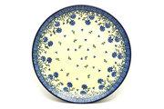 "Ceramika Artystyczna Polish Pottery Plate - 10"" Dinner - Blue Clover 257-1978a (Ceramika Artystyczna)"