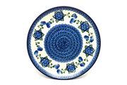 "Ceramika Artystyczna Polish Pottery Plate - 10"" Dinner - Blue Poppy 257-163a (Ceramika Artystyczna)"