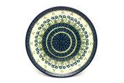 "Ceramika Artystyczna Polish Pottery Plate - 10"" Dinner - Blue Spring Daisy 257-614a (Ceramika Artystyczna)"