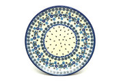 "Ceramika Artystyczna Polish Pottery Plate - 10"" Dinner - Denim Daisy 257-1985a (Ceramika Artystyczna)"