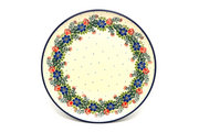 "Ceramika Artystyczna Polish Pottery Plate - 10"" Dinner - Garden Party 257-1535a (Ceramika Artystyczna)"