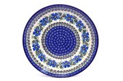 "Ceramika Artystyczna Polish Pottery Plate - 10"" Dinner - Morning Glory 257-1915a (Ceramika Artystyczna)"