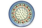"Ceramika Artystyczna Polish Pottery Plate - 10"" Dinner - Red Robin 257-1257a (Ceramika Artystyczna)"