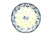 "Ceramika Artystyczna Polish Pottery Plate - 10"" Dinner - White Poppy 257-2222a (Ceramika Artystyczna)"