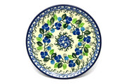 "Ceramika Artystyczna Polish Pottery Plate - Bread & Butter (6 1/4"") - Blue Berries 261-1416a (Ceramika Artystyczna)"
