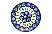 "Ceramika Artystyczna Polish Pottery Plate - Bread & Butter (6 1/4"") - Peacock 261-054a (Ceramika Artystyczna)"