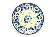 "Ceramika Artystyczna Polish Pottery Plate - Bread & Butter (6 1/4"") - White Poppy 261-2222a (Ceramika Artystyczna)"