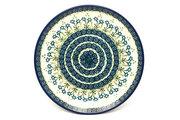 "Ceramika Artystyczna Polish Pottery Plate - Dinner (10 1/2"") - Blue Spring Daisy 223-614a (Ceramika Artystyczna)"