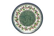 "Ceramika Artystyczna Polish Pottery Plate - Dinner (10 1/2"") - Burgundy Berry Green 223-1415a (Ceramika Artystyczna)"