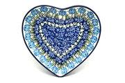 Ceramika Artystyczna Polish Pottery Plate - Heart - Antique Rose 959-1390a (Ceramika Artystyczna)