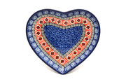 Ceramika Artystyczna Polish Pottery Plate - Heart - Aztec Sun 959-1350a (Ceramika Artystyczna)