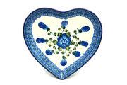 Ceramika Artystyczna Polish Pottery Plate - Heart - Blue Poppy 959-163a (Ceramika Artystyczna)