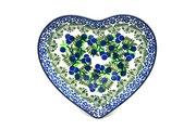 Ceramika Artystyczna Polish Pottery Plate - Heart - Huckleberry 959-1413a (Ceramika Artystyczna)