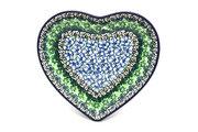 Ceramika Artystyczna Polish Pottery Plate - Heart - Kiwi 959-1479a (Ceramika Artystyczna)