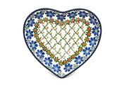 Ceramika Artystyczna Polish Pottery Plate - Heart - Primrose 959-854a (Ceramika Artystyczna)