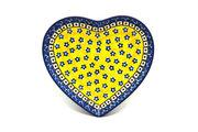 Ceramika Artystyczna Polish Pottery Plate - Heart - Sunburst 959-859a (Ceramika Artystyczna)