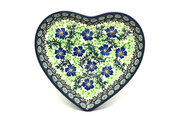 Ceramika Artystyczna Polish Pottery Plate - Heart - Sweet Violet 959-1538a (Ceramika Artystyczna)