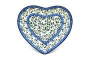 Ceramika Artystyczna Polish Pottery Plate - Heart - Terrace Vines 959-1822a (Ceramika Artystyczna)