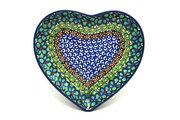 Ceramika Artystyczna Polish Pottery Plate - Heart - Unikat Signature U151 959-U0151 (Ceramika Artystyczna)