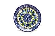"Ceramika Artystyczna Polish Pottery Plate - Salad/Dessert (7 3/4"") - Blue Berries 086-1416a (Ceramika Artystyczna)"
