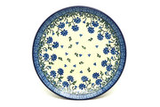 "Ceramika Artystyczna Polish Pottery Plate - Salad/Dessert (7 3/4"") - Blue Clover 086-1978a (Ceramika Artystyczna)"