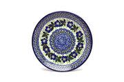 "Ceramika Artystyczna Polish Pottery Plate - Salad/Dessert (7 3/4"") - Blue Pansy 086-1552a (Ceramika Artystyczna)"