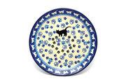 "Ceramika Artystyczna Polish Pottery Plate - Salad/Dessert (7 3/4"") - Boo Boo Kitty 086-1771a (Ceramika Artystyczna)"