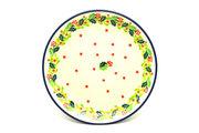 "Ceramika Artystyczna Polish Pottery Plate - Salad/Dessert (7 3/4"") - Christmas Holly 086-2541a (Ceramika Artystyczna)"