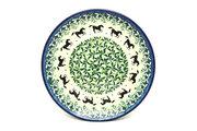 "Ceramika Artystyczna Polish Pottery Plate - Salad/Dessert (7 3/4"") - Dark Horse 086-2241a (Ceramika Artystyczna)"