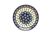 "Ceramika Artystyczna Polish Pottery Plate - Salad/Dessert (7 3/4"") - Peacock 086-054a (Ceramika Artystyczna)"