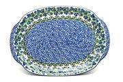 Ceramika Artystyczna Polish Pottery Platter - Oval - Huckleberry 684-1413a (Ceramika Artystyczna)
